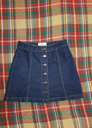 Джинсовая юбка, ретро юбка, юбка, спідниця, new look