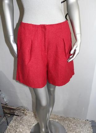 Шерстяные красные шорты h&m