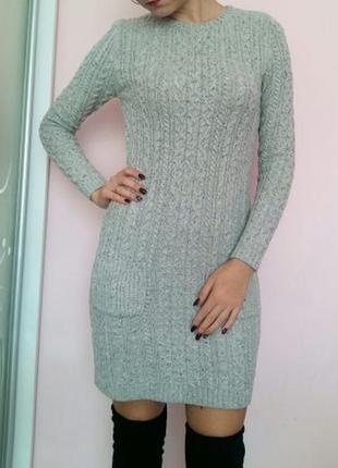 Вязаное платье свитер джемпер кофта