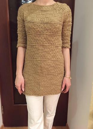 Вязаная туника / вязаное платье / длинный свитер