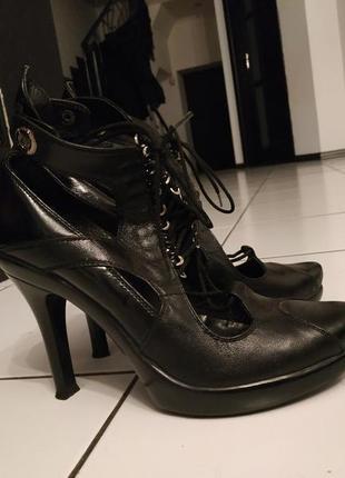 033e69dd5a15 Кожаные женские ботинки 2019 - купить недорого вещи в интернет ...