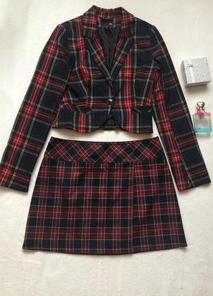 Шикарный костюм (укороченный пиджак + юбка) фирмы h&m/ostin