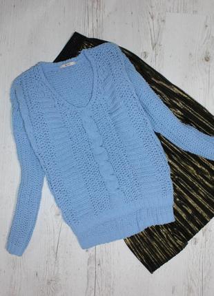 Объемный свитер мягкая нитка  свободного кроя