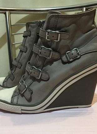 Кожаные ботинки/кеды на танкетке, ash (италия), размер 40/25,5-26 см.