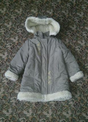 Зимняя куртка на овчине для девочки