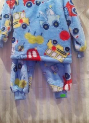 Теплая пижама на мальчика 1-3 года