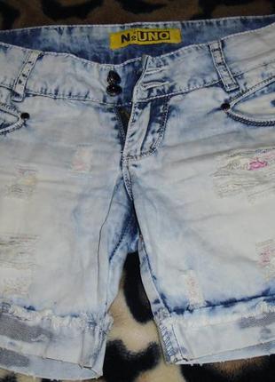Стильные джинсовые шортики фирмы uno 27 размера
