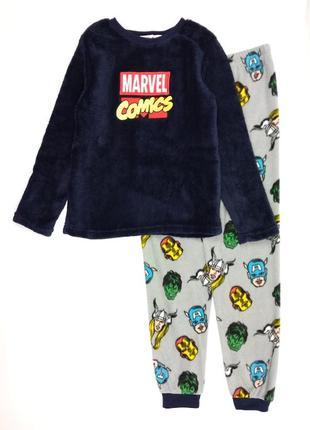 Теплая флисовая пижама велсофт мстители на мальчика, marvel, primark