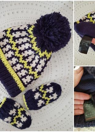 Набор шапка и рукавички