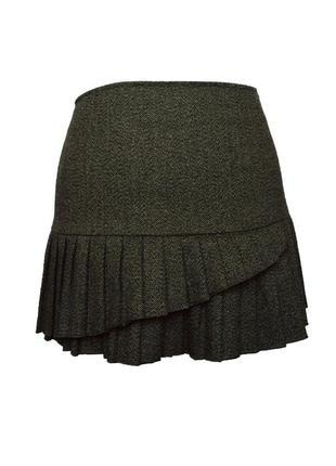 Оригинальная шерстяная мини юбка sisley