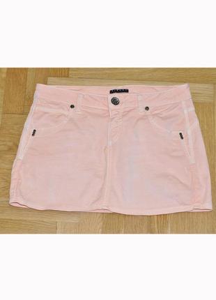 Джинсовая летняя мини юбка деним от французского бренда sisley