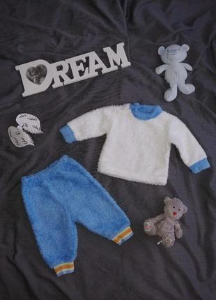 Пижама домашний костюм поддева меховушка плюшевая махровая теплая зимняя next