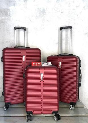 Качество! комплект чемоданов малый средний большой из поликарбоната италия