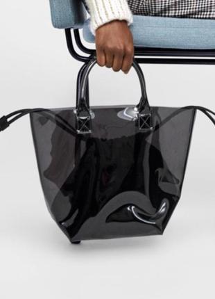 Виниловая сумка zara!!! новая