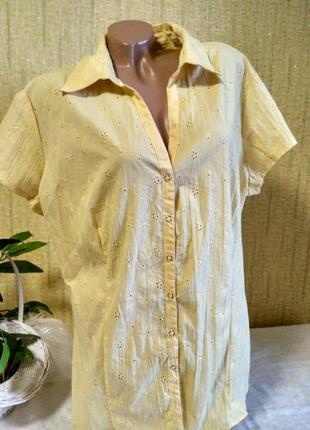 Красивая блуза с коротким рукавом на кнопках (индия)