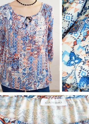 Вискозная блузка с принтом canda (c&a)