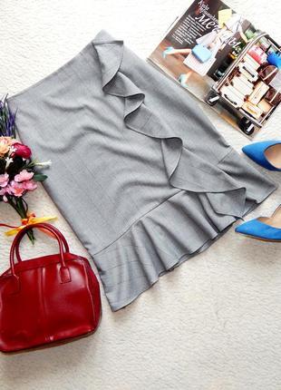 Трендовая юбка с воланами marks & spencer