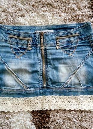 Мини-юбка джинс варенка