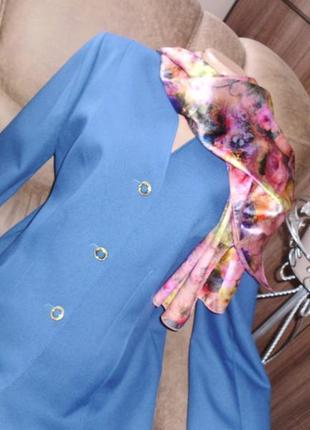 Eastex пиджак цвет лазурный рр 14 бренд eastex second hands