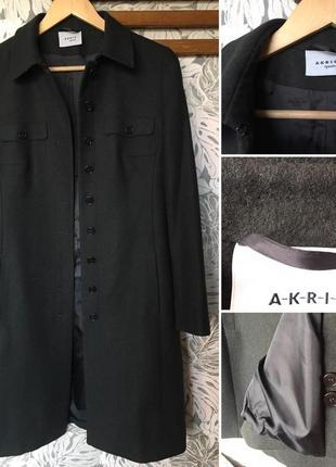Стильное красивое пальто akris шерсть\ангора
