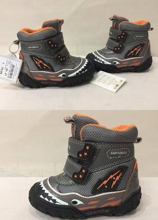 Ботинки зимние сапожки термо geox amphibiox р.21 ст.13.5-14см новые