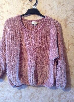 Кофта свитер свитшот женский велюровый актуальный