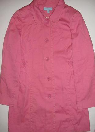 Розовое демисезонное пальто atmosphere