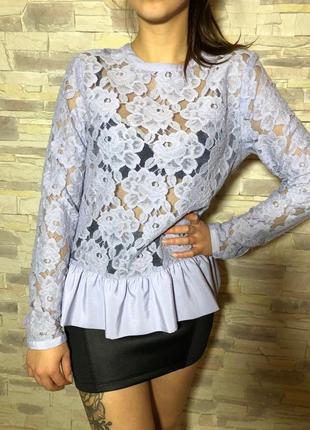 Кружевная блуза asos