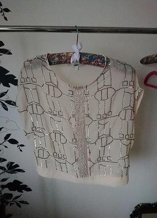 Шифоновая блуза с пайетками