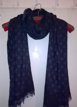 Невероятная шаль шарф в стиле louis vuitton