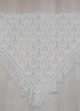 Красивая шаль , платок ручной работы в красивый узор !2 фото