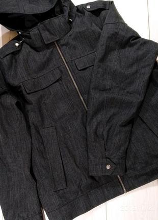 Добротная мужская куртка парка на утеплителе xl-xxl