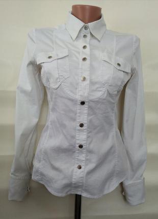 Стильная белая блузка рубашка karen millen оригинал р. 38 uk12 eur 40