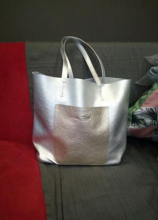 Эффектная сумка шоппер poolparty mania новая от производителя