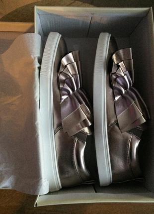 Трендовые блестящие туфли, слипоны  lost ink, великобритания