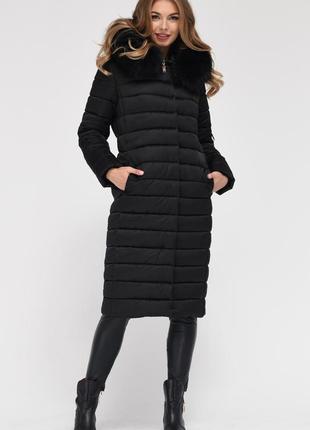 Зимняя женская удлиненная куртка x-woyz ls 8816 44 размер