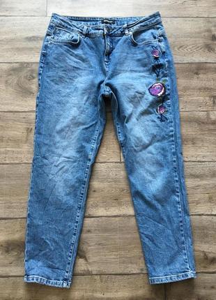 Слим, джинсы kaleidescop мом-джинсы  (mom jeans) (бойфренды) (bershka, zara, h&m, mango)
