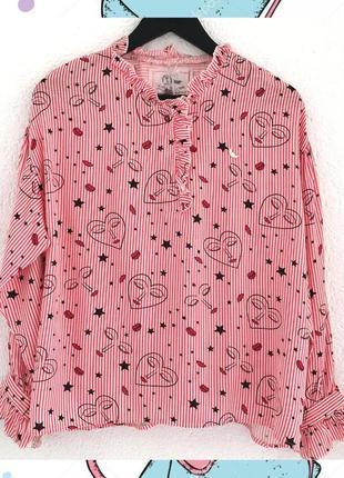 Рубашка с рисунком  в красную полоску wiya (италия)