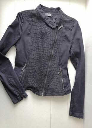 Kaos эффектная, джинсовая куртка косуха m,l