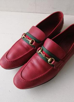 Gucci кожаные туфли, лоферы. оригинал
