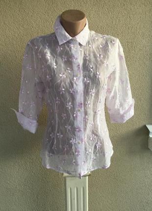 Легкая,нежная,блуза,рубашка,вышивка,хлопок,эксклюзив,anne fontaine,дизайнер,франция