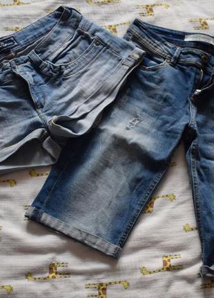 Джинсовые шорты и бриджи (комплект)