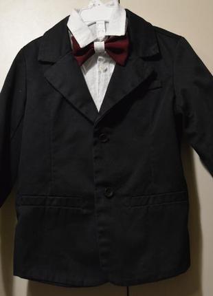 Пиджак черный.коттон.5-6 лет