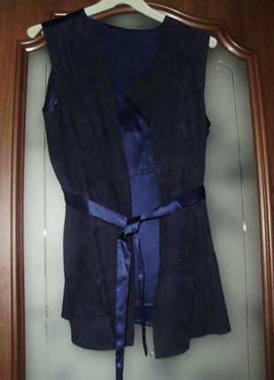 Liu - jo (44) кожа + шелк . очень красивая эксклюзивная блуза