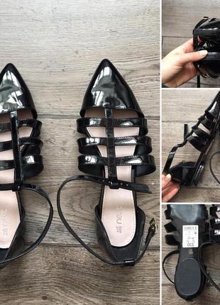 39 р. босоножки next. стильные туфельки-босоножки
