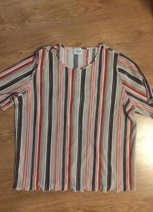Жатая блузочка большой размер
