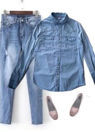 Джинсовая рубашка размер 40-44