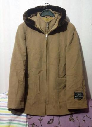 Теплое кашемировое пальто (пог-58 см) италия