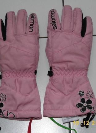 Лыжные перчатки девочке - salomon s 4.5 - 15.5- индонезия