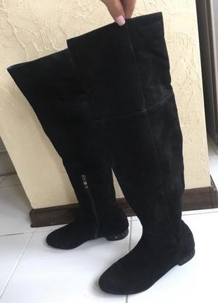 Ботфорты замшевые сапоги 36 размер на стопу 23 - 23,5 см
